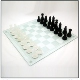 Chess Set Glass 35 cm