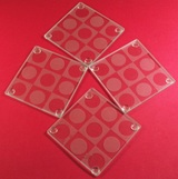 4 pc Coaster Set - Circles