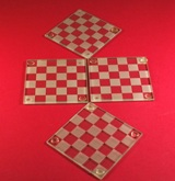 4 pc Coaster Set - Squares