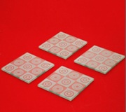 4 pc Coaster Set - Retro Red