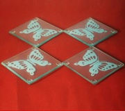 4 pc Coaster Set - Butterfly