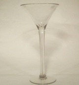 Footed Glass Candle Holder 34cm High