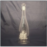 Bottle with Ship 30cm