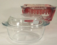 Glass Round Casserole Dish with Lid - 1.5L