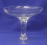 Footed Compote Glass Bowl 20 * 23cm