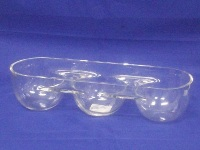 3 Division Glass Bowl 7 * 31.5 * 10.2cm