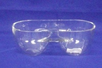 2 Division Glass Bowl 7.5 * 21 * 10cm