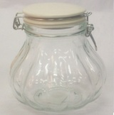Hermetic Glass Storage Jar & Lid 1500ml - 16cm (Height)