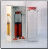 Refrigerator Water Jug with Red Lid - 1.3 L