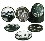 Set 6 Black/White Beatles Coasters