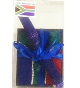SA Beaded Notebook and pen set - 8cm