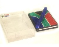 SA Beaded Notebook and pen set - 10cm
