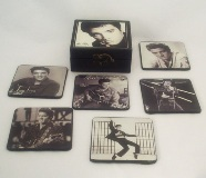 Set 6 Black/White Elvis Coasters