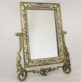 Antique look Bronze standing Mirror 18.2*2.5*1.7cm