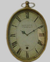 Oval Metal Wall Clock - 46.5* 5 * 31.5cm