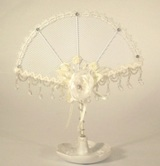 Jewellery Holder - Wire Cream 36cm