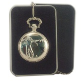 Quartz Pocket Watch - Golfer