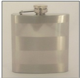 Hip Flask 6 oz with Horizontal lines