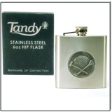 Hip Flask 6 oz - Golf Ball & Tee Insert