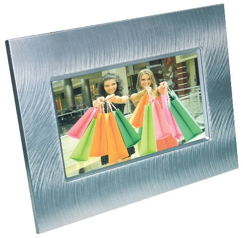 "Digital Photo Frame Compositor 8"" Metal"
