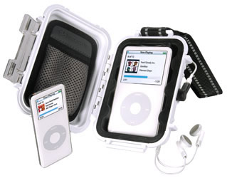 Pelican IPod Waterproof Case - White - Ipod Accessory
