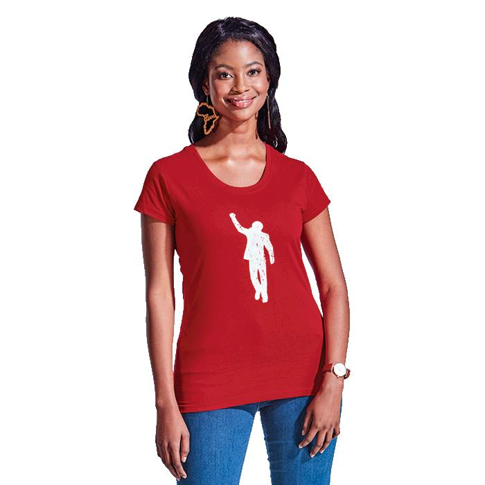 466/64 Ladies 155g T-Shirt - Avail in: Black, Red or White