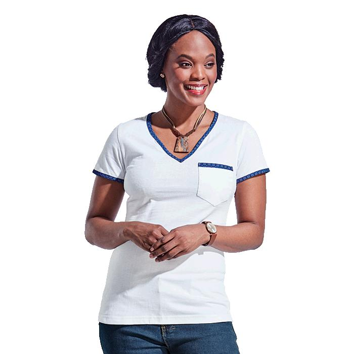 Barron Ladies 160g Bokang T-Shirt - Avail in: Navy/Navy, Red/Red
