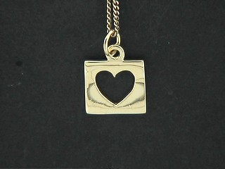Cut Out Heart Disk Charm
