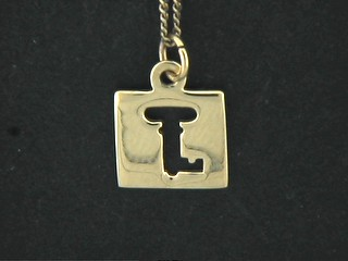 Cut Out Key Disk Charm