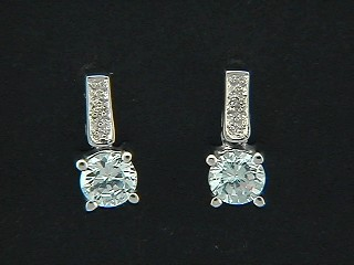 Cubic Pave Drop Bar Earrings
