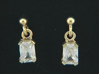 Ball Stud And Octagonal Cubic  Earings