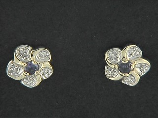 Cubic Pave Flower Earrings