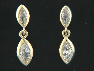 Double Marquise Cubic Earrings