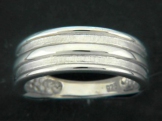 Matt Shinny Ribbed Ring