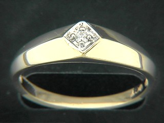 Bevel Shinny Diamond Ring
