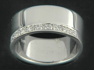 Cubic Pave Line Ring