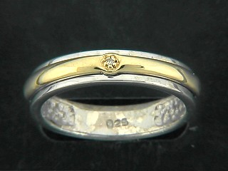 Diamond Two Tone Band Ring