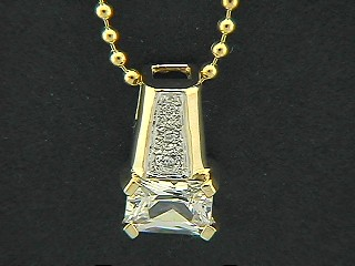 Rectangle Cubic And Pave Pendant
