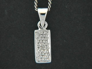 Cubic Pave Rectangle Pendant