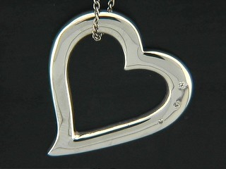 Diamond Tipped Open Heart Pendant