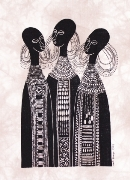 Three Maasai girls Heidi Lange Prints