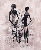 Turkana couple Heidi Lange Prints