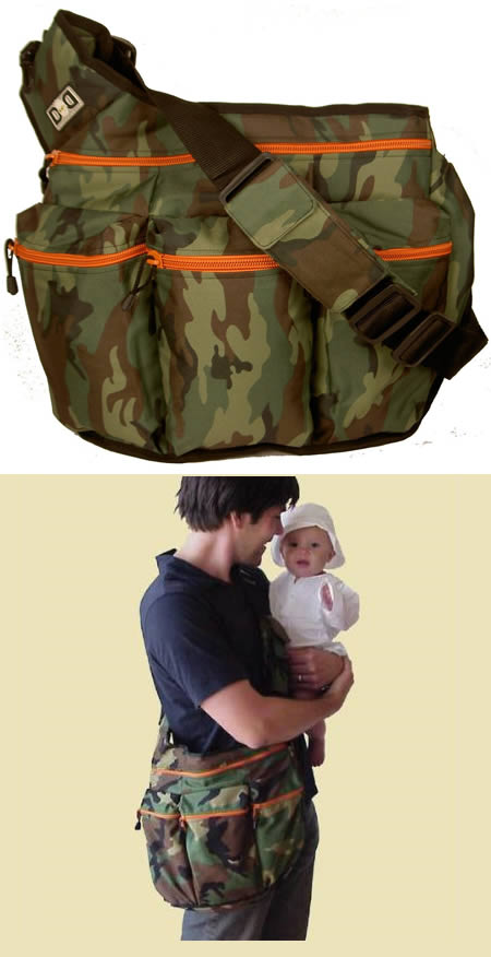 Camouflaged Diaper Bag