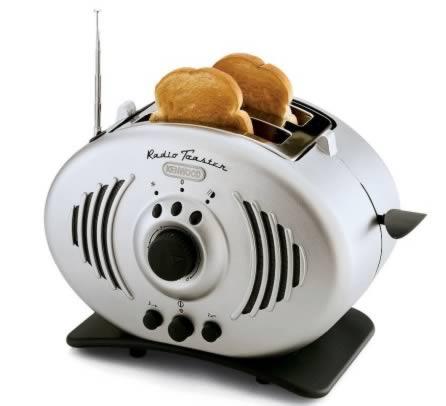 Hammacher Schlemmer's Toaster: radio + roaster