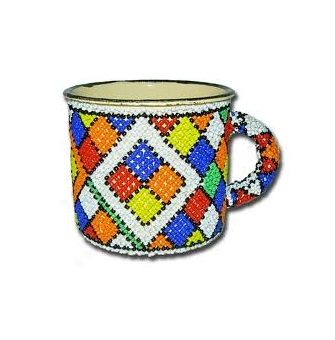 Beaded Tin Mugs