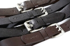 Jekyll & Hide Leather Belt o1 - Black, Brown Double Pin Buckle