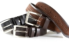 Jekyll & Hide Leather Belt o8 - Brown Cow with Nubuck