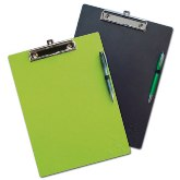 A4 Clipboard With Pen - Avail In: Aluminium, Black, Gunmetal,Red