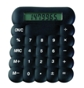 Bubble Silicon Calculator Black