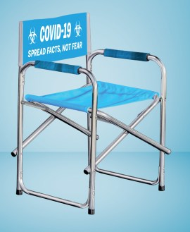 Covid-19 Branded Directors Chair - Min 5 units